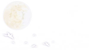 中秋節月亮云朵夢幻邊框