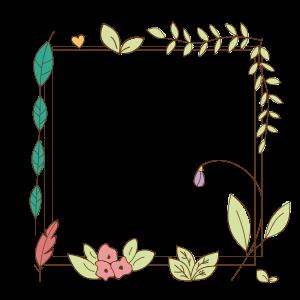 简约卡通手绘花朵边框