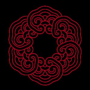 中國風圓圈