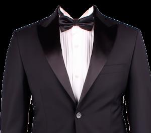 黑色蝴蝶結白襯衫西裝