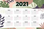 2021日歷矢量圖