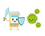 病毒防護矢量插畫