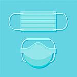 藍色口罩設計